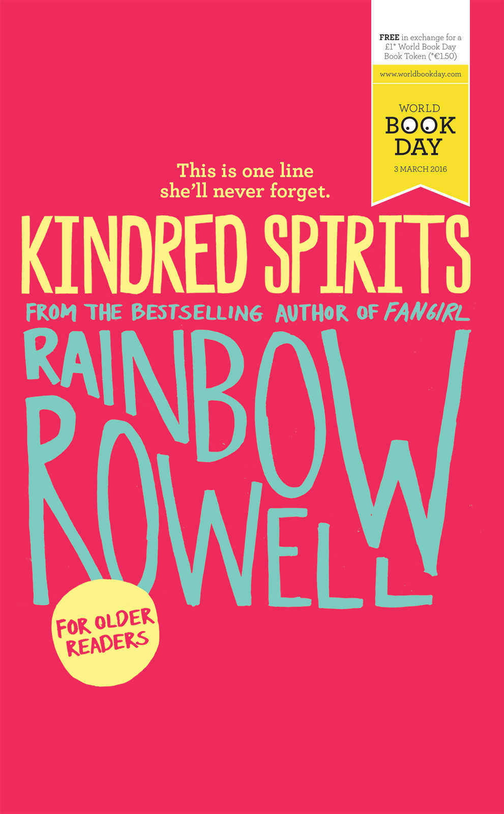 World Book Day Offerings from Rainbow Rowell and Juno Dawson