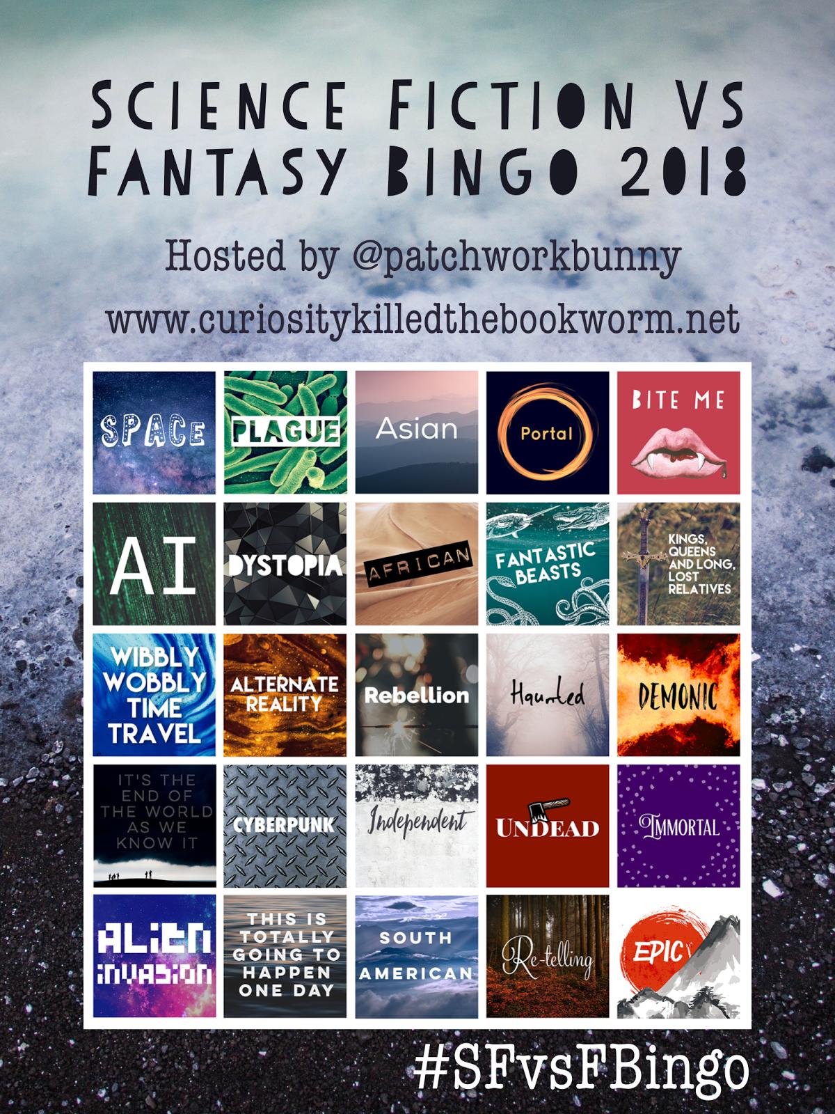 Science Fiction vs Fantasy Bingo 2018