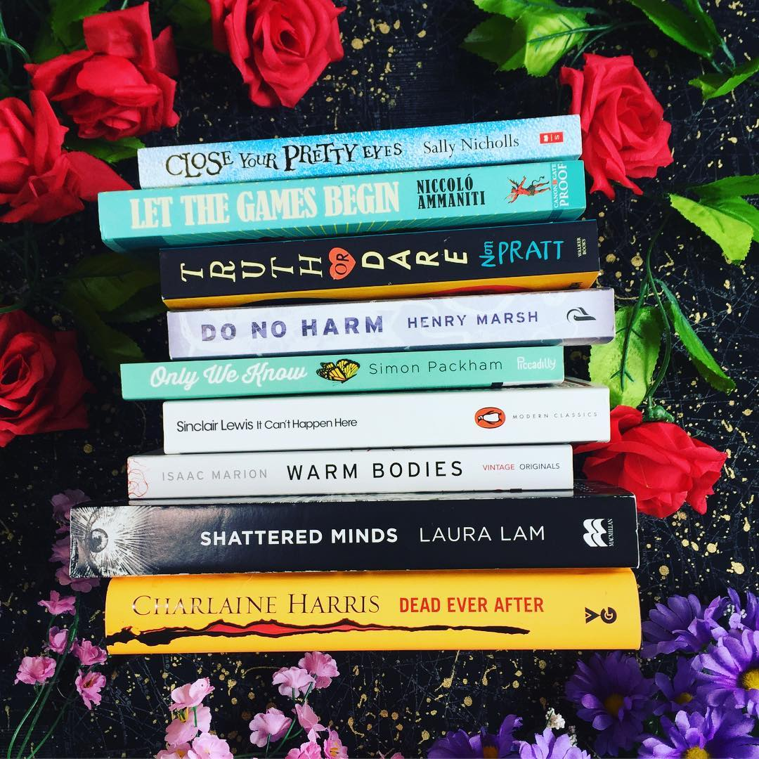 Readathon: Book Spine Poetry