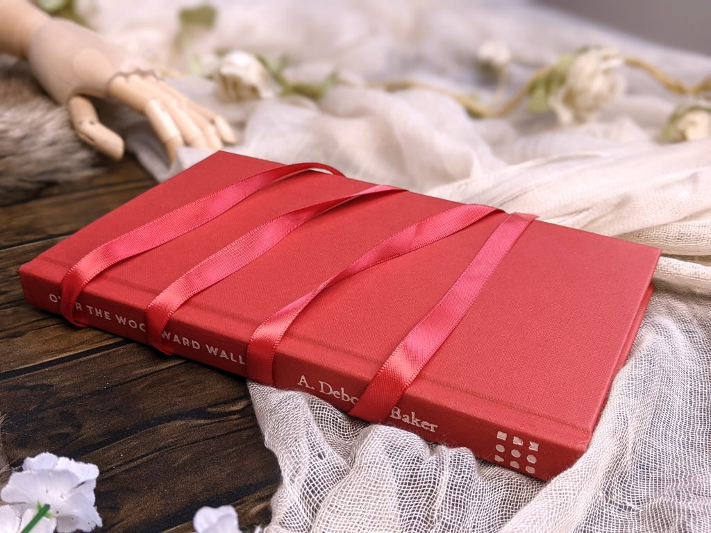 red book wrapped in ribbon