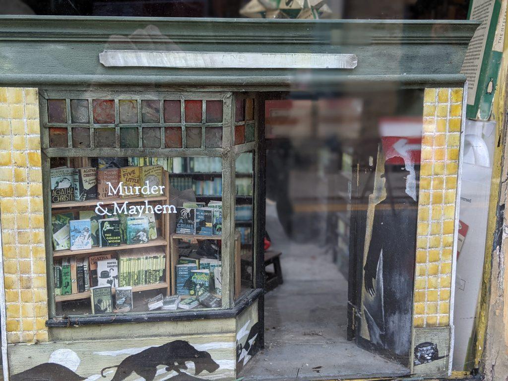 Miniature model of Murder & Mayhem bookshop